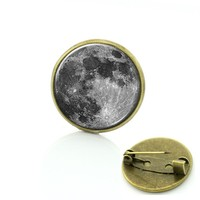 Galaxy moon surface universe out of space brooches Independent original design pins Spiral Galaxy creative nebula badge T676
