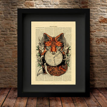 Darwing Wolf Print, Animal Art, Kids Decor, Modern Bedroom Decor, Wolf Art, Dictionary Animal Print, Home Decor, Wall Decor, for gift -10