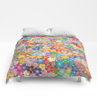 Cherry Blossom Flowers Comforters by Smyrna