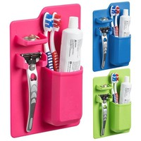 Useful Silicone Bathroom Organizer Mighty Toothbrush Silicone Holder for Bathroom Mirror