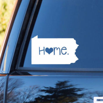 Pennsylvania Home Decal | Pennsylvania Decal | Homestate Decals | Love Sticker | Love Decal  | Car Decal | Car Stickers | 078