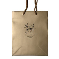 Thank You Wedding Welcome Bags Foil Stamped Personalized Hotel Guest Bags Custom Wedding Favors Rehearsal Dinner Anniversary