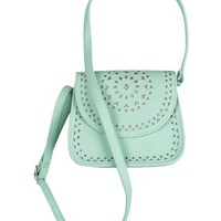 LASER CUT CROSSBODY BAG   GIRLS EASTER SHOP THE COLLECTIONS   SHOP JUSTICE