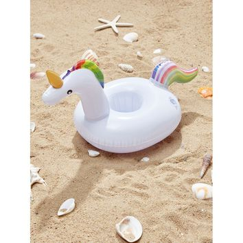 Unicorn Shaped Inflatable Drink Holder
