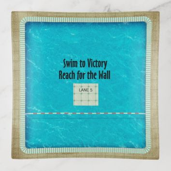 TOP Swim Team Slogan Trinket Trays