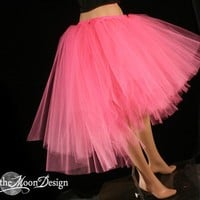 Virgin Hot Pink Romance tutu skirt trash dance extra poofy knee length Adult  - You Choose Size -- Sisters of the Moon
