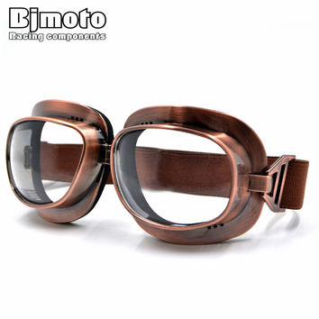 GT-013 Vintage Scooter Motocross Goggle Glasses Motorcycle Cycling Goggles Cruiser Steampunk ATV Bicycle Eyewear Glasses