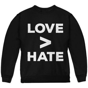 ICIK8UT Activist Love is Greater Than Hate Youth Sweatshirt