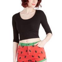 Lazy Oaf Fruits When I Melon Love Shorts