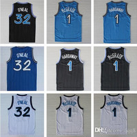Top Quality ! Men 1 Tracy Mcgrady 1 Penny Hardaway 32 Shaquille Oneal Throwback O 'neal Black Rev 30 Jerseys Embroidery Logo Mix Order !