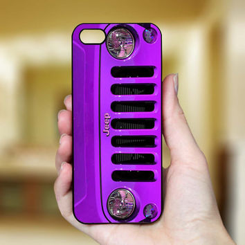 Purple Jeep Wrangler, iPhone Case Cover, Art Design For iPhone 4 Case, iPhone 4S Case, iPhone 5 Case