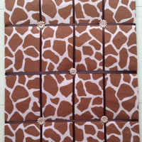 Giraffe Memo/Picture Board 16 x 24 brown tan by EllaTaylorBoutique