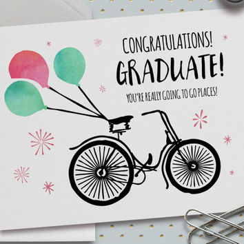 Graduation Card, Congratulations Card, 5.5 x 4.25 Inch (A2), Cards for Friends, You're Going Places, High School, High School Graduation