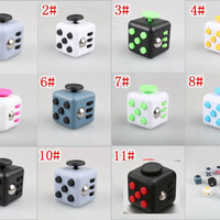 New Hot Selling 11 Styles Puzzle Magic Fidget Cube Toys for Children and Adult