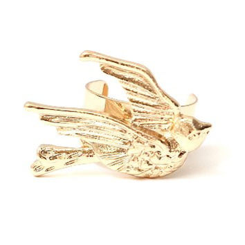 Little Sparrow Ear Cuff Metal Wrap Bird Gold Tone CA25 Dove Earring Swallow Animal Fashion Jewelry