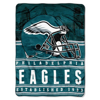 Philadelphia Eagles NFL Silk Touch Throw (Stacked Series) (60inx80in)