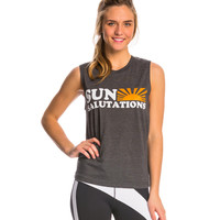 Sun Salutations Muscle Workout Shirt at YogaOutlet.com