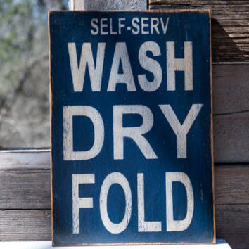 laundry room wash dry fold self serv laundry quote rustic wood sign blue white humor do your own laundry funny laundry fold your clothes
