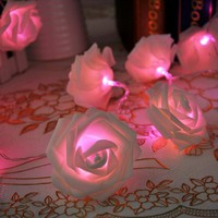 Lychee® Rose Fairy String Lights for Room Home Garden Christmas Party Decoration (Pink, 2.2m 20Leds)
