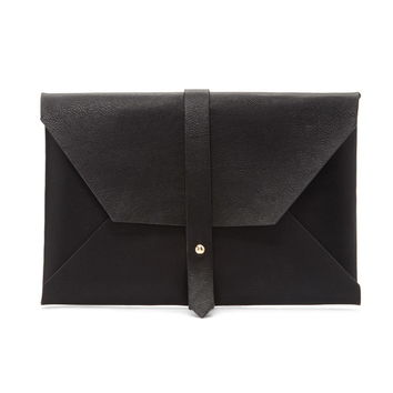 Strappy Faux Leather Clutch