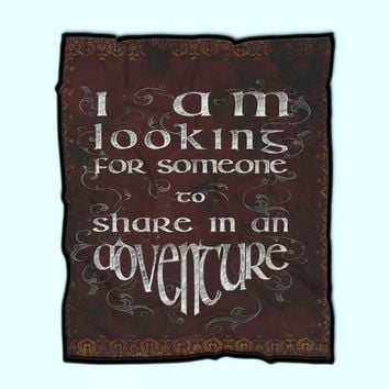 The Lord Of The Rings Quote Adventure Vintage Fleece Blanket