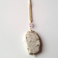 Lavender Amethyst Simple Bliss Necklace