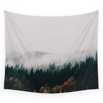 Society6 Forest Fog Wall Tapestry