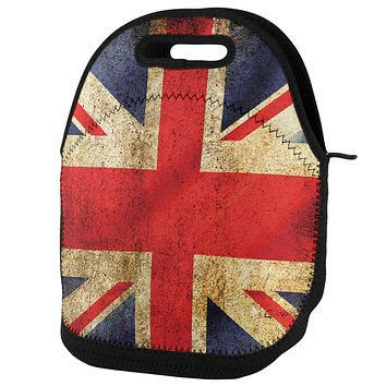 British Flag Union Jack Grunge Lunch Tote Bag