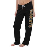 New Orleans Saints Nike Women's Rally Open Hem Rewind Sweatpants – Black