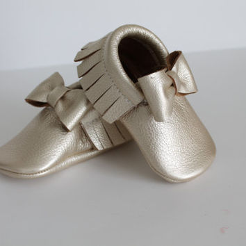 Custom Bow Leather Moccasins