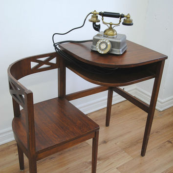 Vintage 1930s/40s Telephone Table-Desk