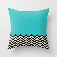 Follow the Sky Throw Pillow by Bianca Green