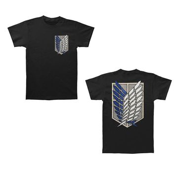 Attack On Titan Survey Corps Wings Logo Manga Anime Licensed Adult T-Shirt