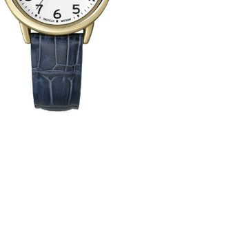 Timex Womens Goldtone White Dial Blue Strap Watch