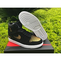 Air Jordan 1 Black Ovo Basketball Shoes