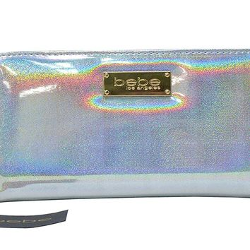 bebe Minnelli Holographic Glitter Wallet