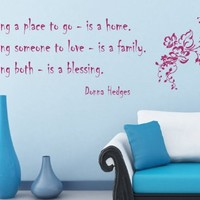 Housewares Vinyl Decal Family Quote Having a Place to Go is a Home .. Love Blessing Home Wall Art Decor Removable Stylish Sticker Mural Unique Design for Any Room