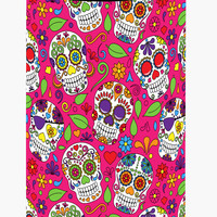 Day of the Dead Pink Tall Boy Beverage Insulator Hugger BB5115TBC