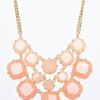 Pietra Necklace in Nectarine- ShopSosie.com