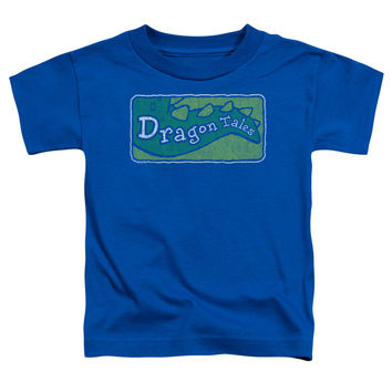 Dragon Tales Logo Distressed Royal Blue Toddler T-Shirt