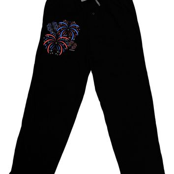 Patriotic Fireworks with Bursting Stars Adult Lounge Pants by TooLoud