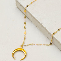 Dapped Tusk Necklace - Gold
