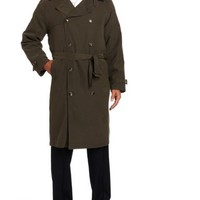 London Fog Men's Iconic Double Breasted Belted Trench Coat