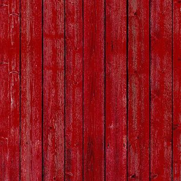 Barn Yard Red Wood Floor Backdrop  Printed Photography Backdrop / 1078