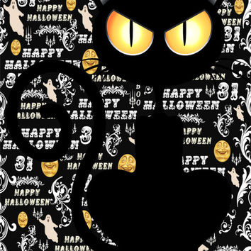 Cute Cat Image, Halloween Cat Image, Scary Cat Image, Large Halloween Cat Poster, Wall Décor, Kids Room, Nursery Décor, Home Décor