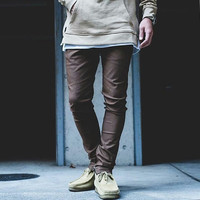 Brown | Icon Zipper Pants