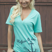 Refuse to Sink Mint Deep V