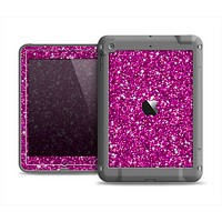 The Bright Pink Glitter Apple iPad Air LifeProof Fre Case Skin Set