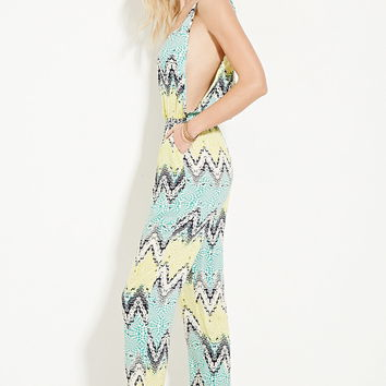 Abstract Print Jumpsuit | Forever 21 - 2000223374