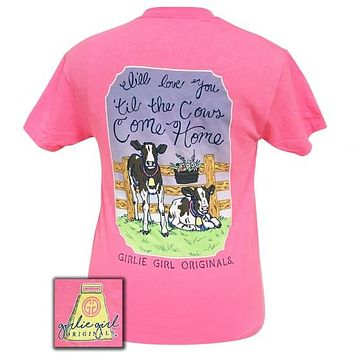 Girlie Girl Preppy I'll love you til the cows come home T-Shirt